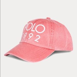 Polo 1992 Red Adjustable Hat NWT Limited Edition